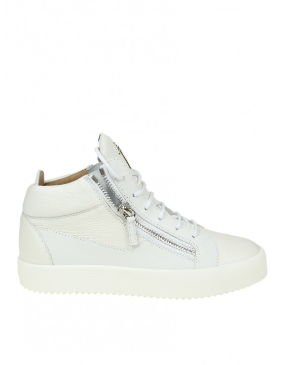 "GIUSEPPE ZANOTTI SNEAKERS ""MAY"" IN PELLE COLORE BIANCO"