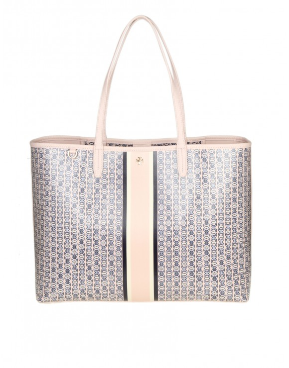 "TORY BURCH SHOPPING ""GEMINI LINK"" IN TELA IMPERMEABILE"