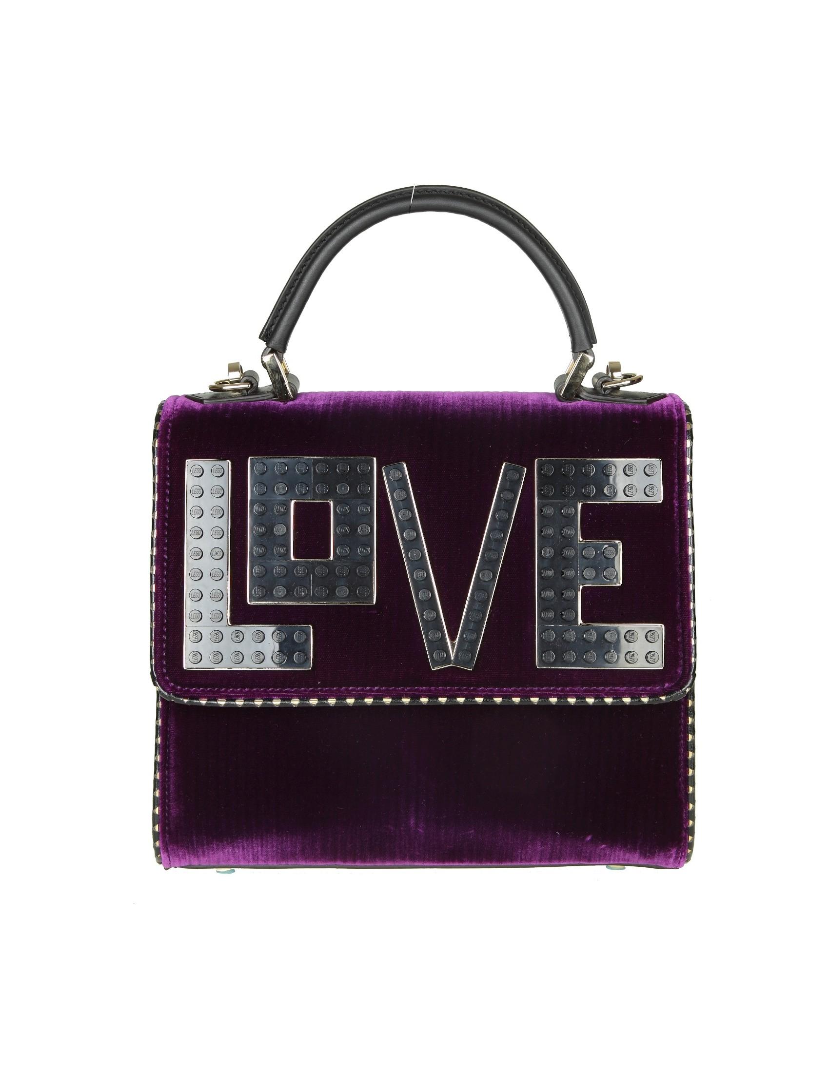 Les Petits Joueurs Les Petites Joueurs mini Alex Hand Bag In Velvet Violet Color Sale 100% Original 64ueaj6UV7
