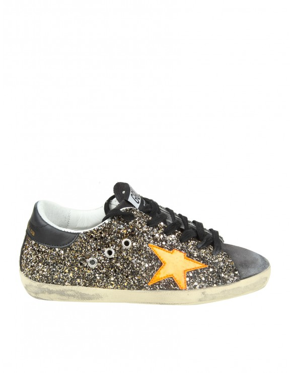 "GOLDEN GOOSE SNEAKERS ""SUPERSTAR"" IN PELLE GLITTERATA"