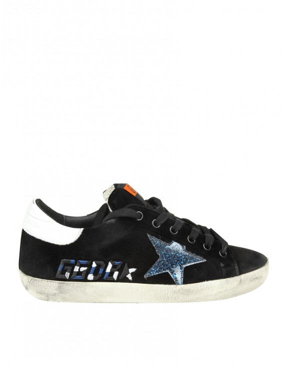 "GOLDEN GOOSE SNEAKERS ""SUPERSTAR"" IN VELLUTO COLORE NERO"