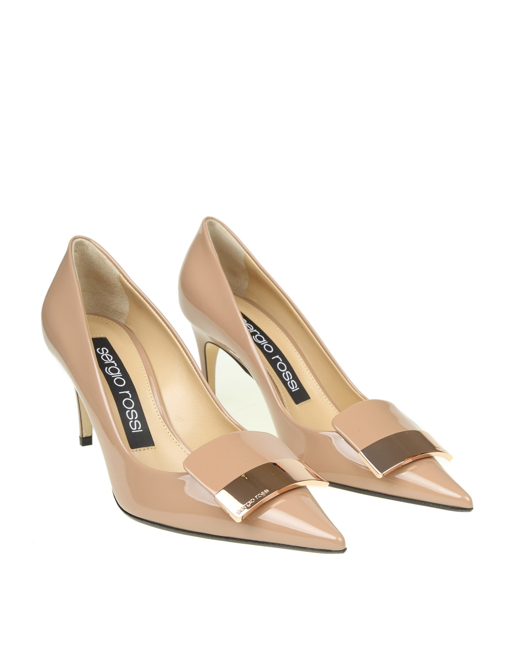 4f2f06650a58 SERGIO ROSSI DECOLLETE PAINT CALF LEATHER NUDE WOMAN NEW COLLECTION