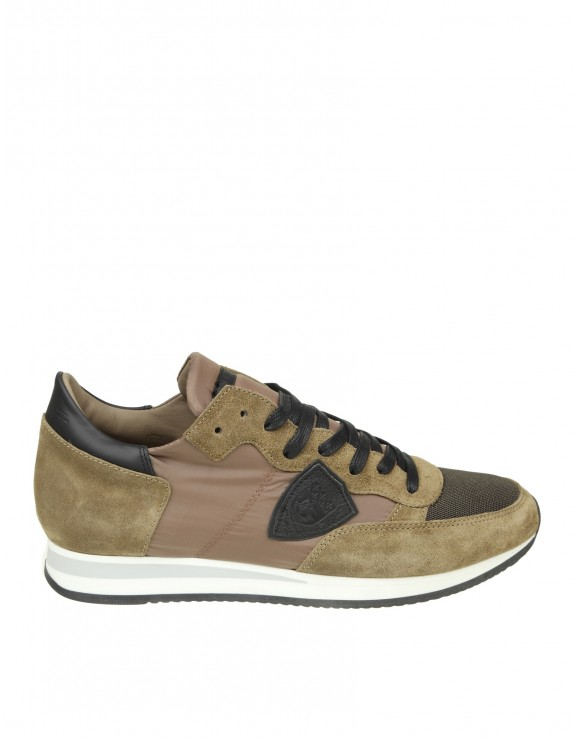 PHILIPPE MODEL SNEAKERS TROPEZ IN CAMOSCIO BEIGE