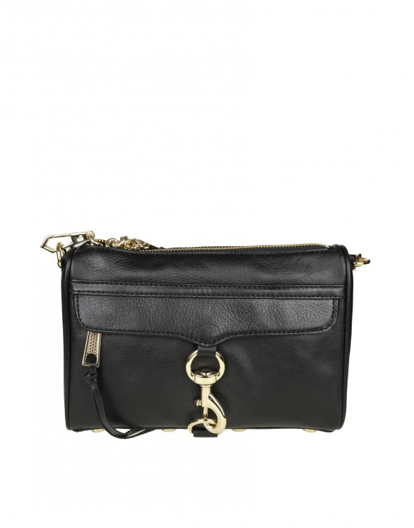 "REBECCA MINKOFF ""MINI MAC CROSSBODY"" IN PELLE COLORE NERO"