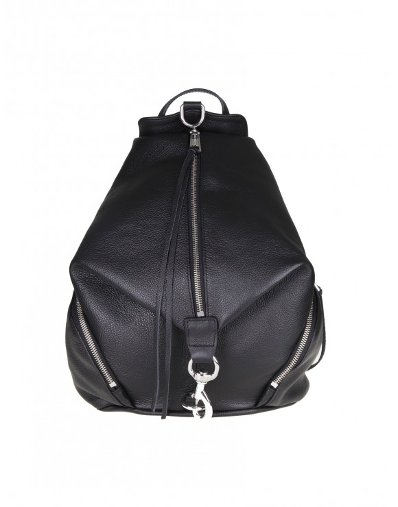 "REBECCA MINKOFF ""JULIAN"" BACKPACK IN BLACK COLOR LEATHER"