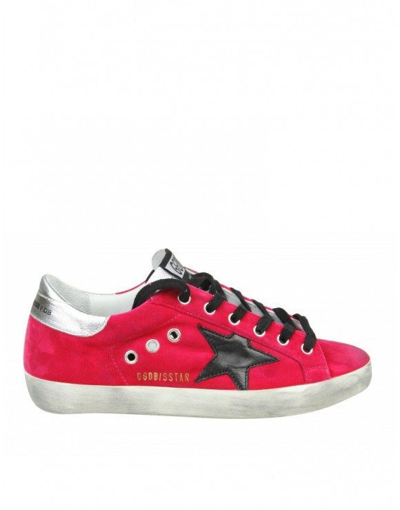 "GOLDEN GOOSE SNEAKERS ""SUPERSTAR"" IN VELLUTO COLORE FUCHSIA"