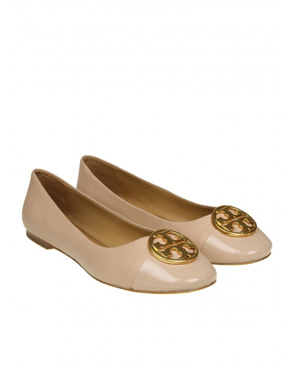 "TORY BURCH BALLERINA ""CHEALSEA"" IN PELLE COLORE ROSA"