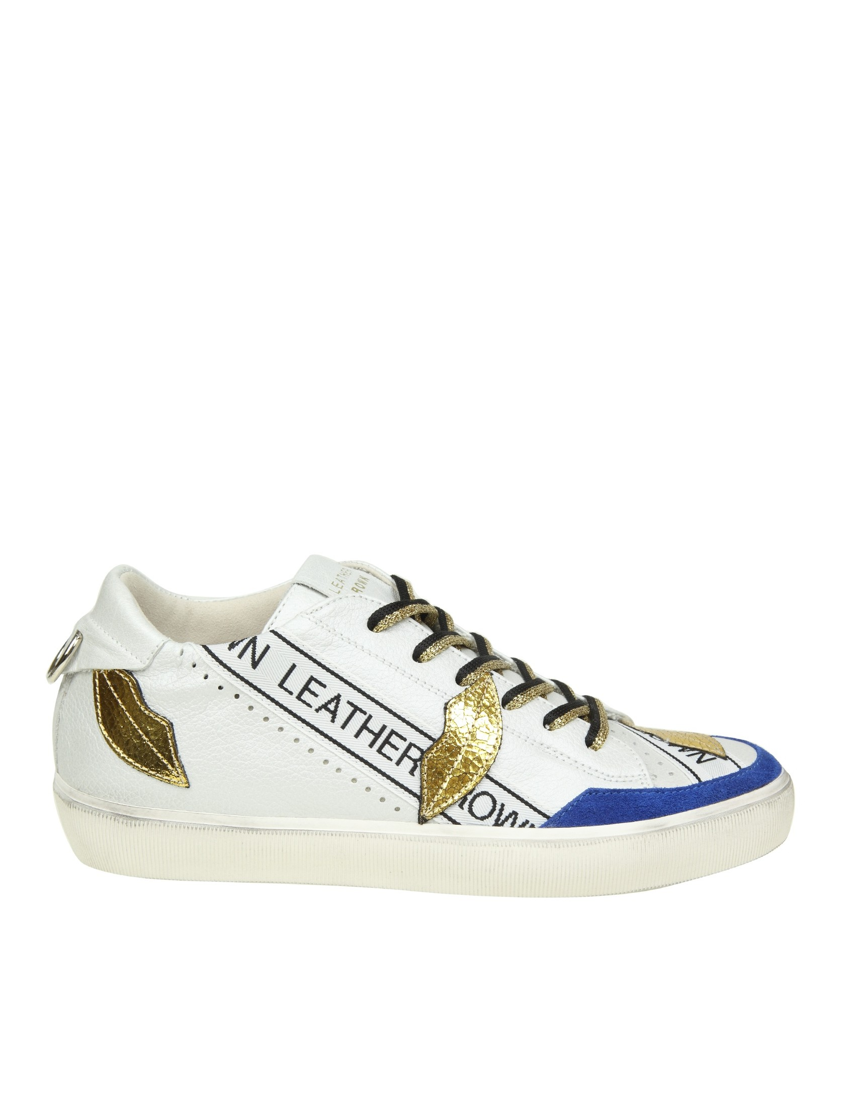 Leather Pelle Kisslow W Crown Donna Sneakers Bianco Baci CxBoed