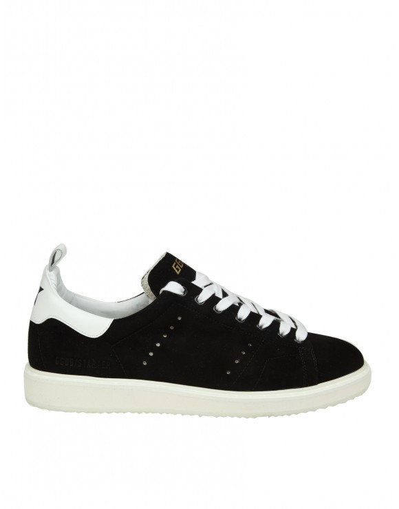 GOLDEN GOOSE SNEAKERS STARTER IN CAMOSCIO NERO