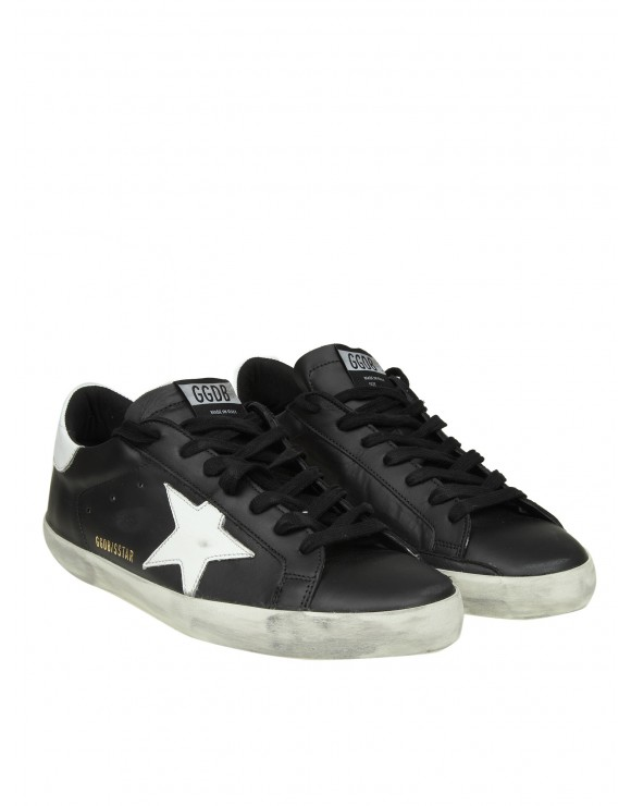 GOLDEN GOOSE SNEAKERS SUPERSTAR IN PELLE COLORE NERO