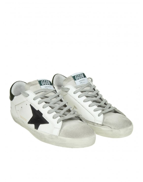 "GOLDEN GOOSE SNEAKERS ""SUPERSTAR"" IN PELLE BIANCA"