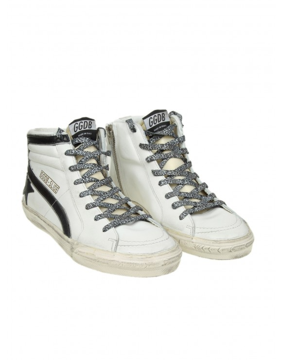 "GOLDEN GOOSE SNEAKERS ""SLIDE"" IN PELLE BIANCA"