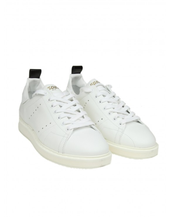 "GOLDEN GOOSE SNEAKERS ""STARTER"" IN PELLE BIANCA"