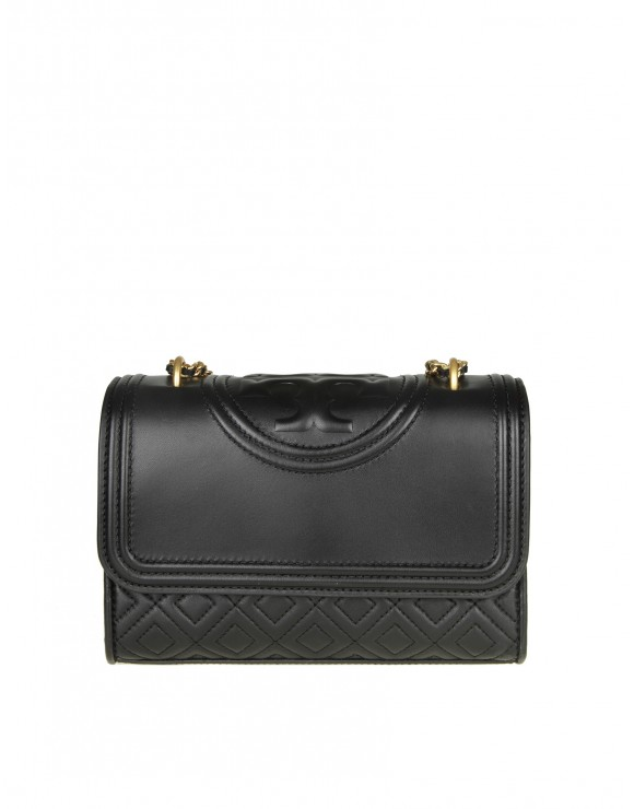 TORY BURCH FLAMING SMALL IN PELLE COLORE NERO