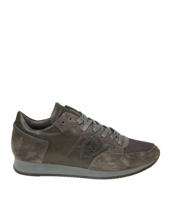 PHILIPPE MODEL SNEAKERS TROPEZ IN CAMOSCIO COLORE ANTRACITE
