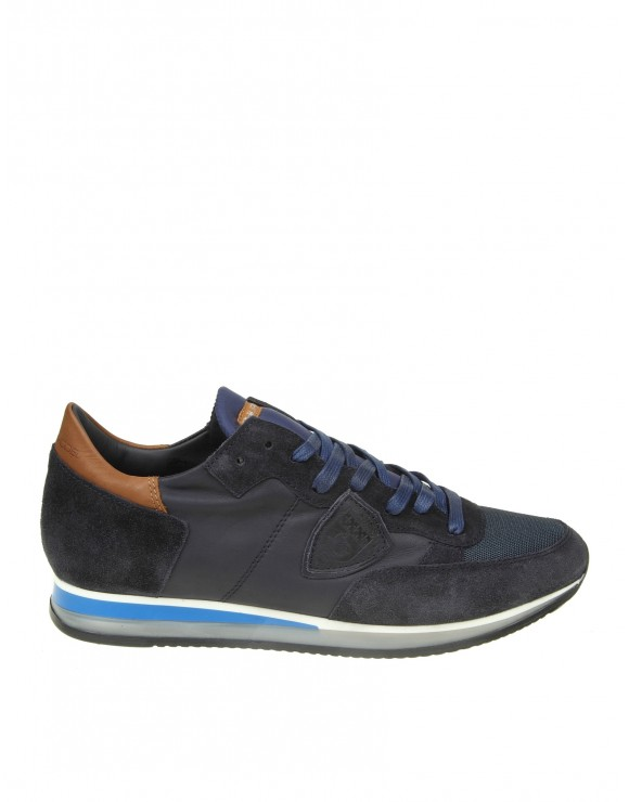 PHILIPPE MODEL SNEAKERS TROPEZ IN CAMOSCIO COLORE BLU