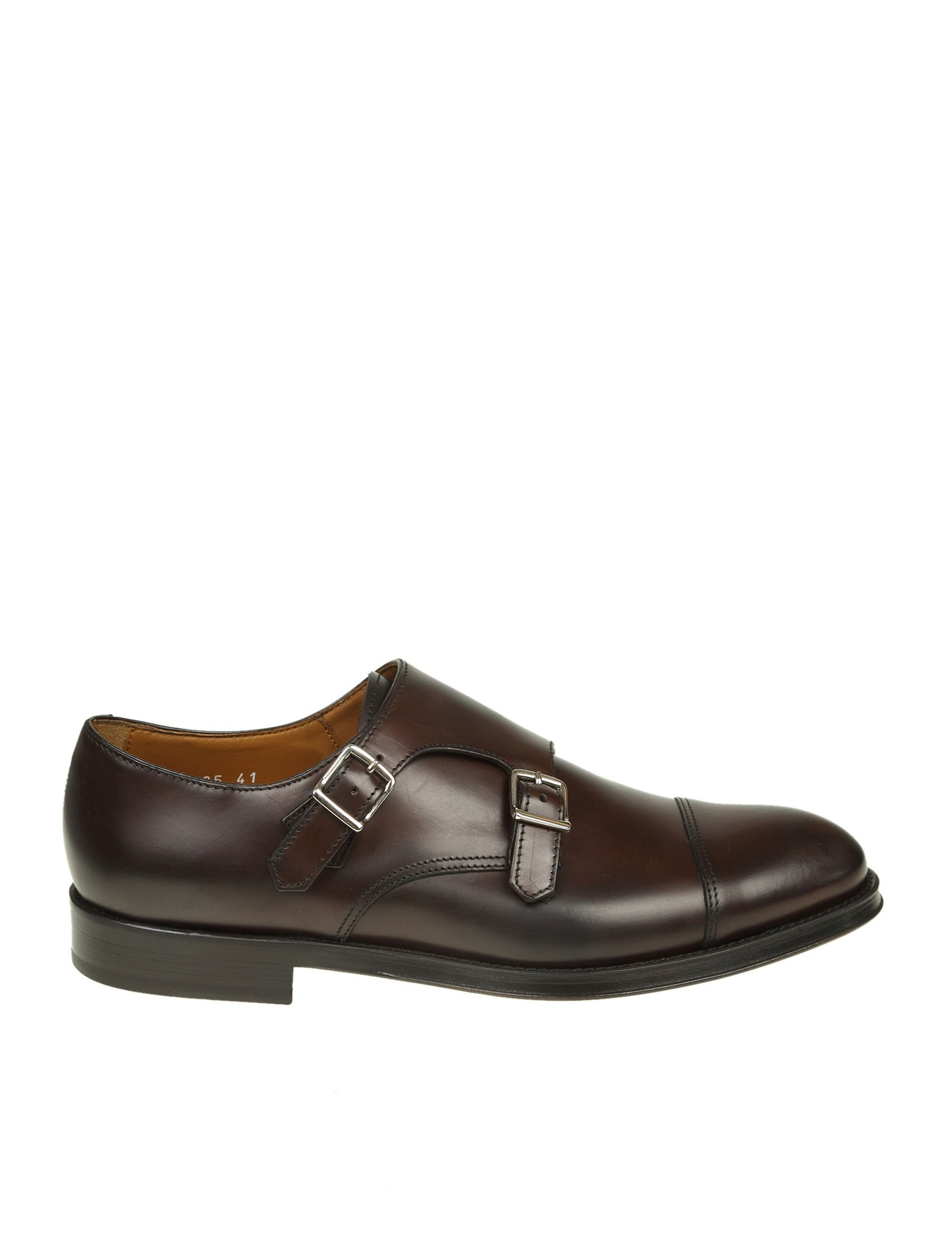release date: f9d09 72efb doucal-s-shoe-with-double-buckle-in-leather-color-of-dark-brown.jpg