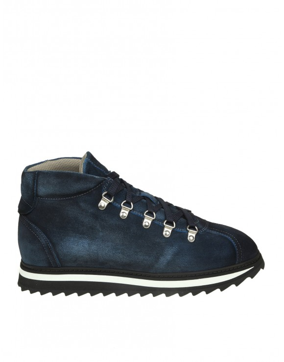 DOUCAL'S SNEAKERS IN CAMOSCIO COLORE BLU