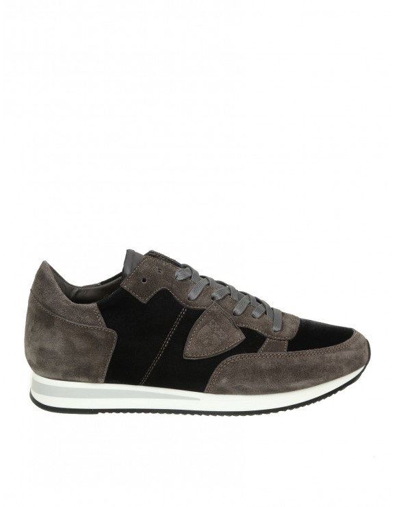 PHILIPPE MODEL SNEAKERS TROPEZ IN CAMOSCIO GRIGIO