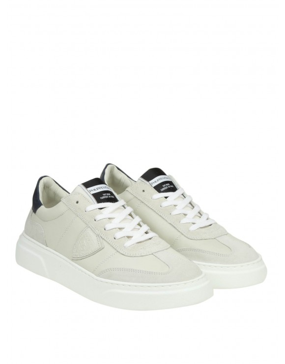 PHILIPPE MODEL SNEAKERS TEMPLE IN PELLE COLORE BURRO
