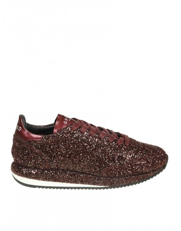 GHOUD SNEAKERS IN GLITTER COLORE BORDEAUX