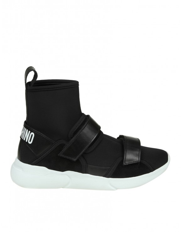 MOSCHINO SNEAKERS IN NEOPRENE COLORE NERO
