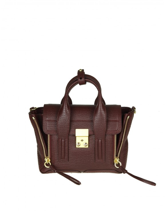 "PHILLIP LIM BORSA ""PASHLI"" MINI IN PELLE VINO"