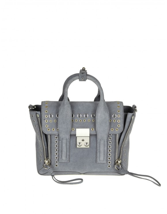 PHILLIP LIM PASHILI MINI SATCHEL IN SUEDE WITH STUDS