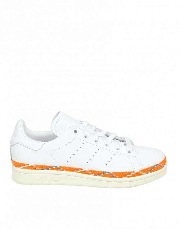 ADIDAS ORIGINALS SNEAKERS STAN SMITH NEW BOLD IN PELLE COLORE BIANCO