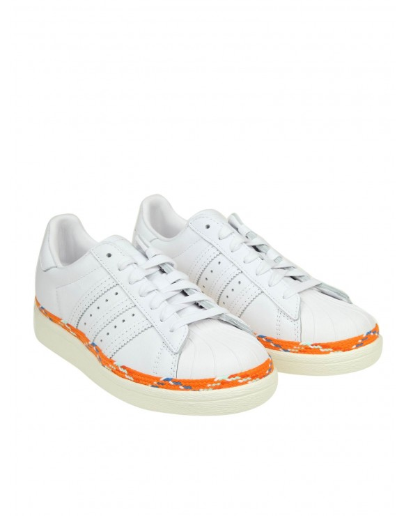 ADIDAS ORIGINALS SNEAKERS SST 80s NEW BOLD IN PELLE BIANCA