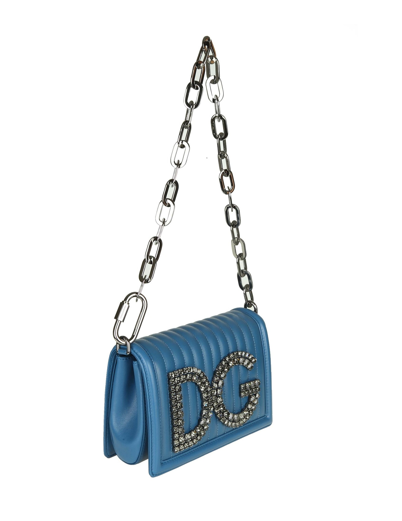 88ac4ca6155a4 Dg Matelasse  Blu Pelle Borsa Donna Pochette Dolce amp  Gabbana Colore  wnaqX4Z4
