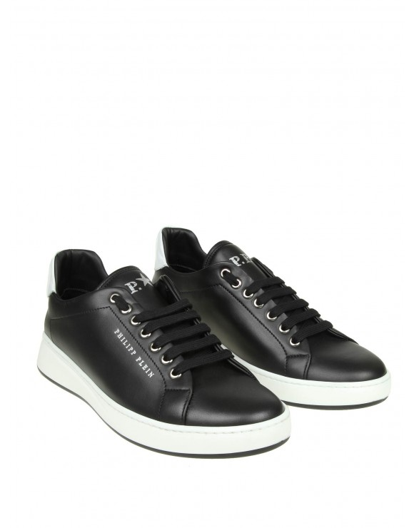 "PHILIPP PLEIN SNEAKERS ""LO-TOP ORIGINAL"" IN PELLE NERA"