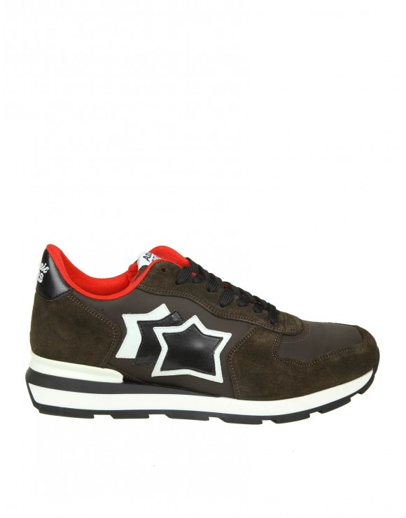 ATLANTIC STARS SNEAKERS ANTARES IN CAMOSCIO COLORE MARRONE