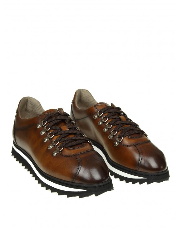 DOUCAL'S SNEAKERS IN PELLE COLORE BRANDY