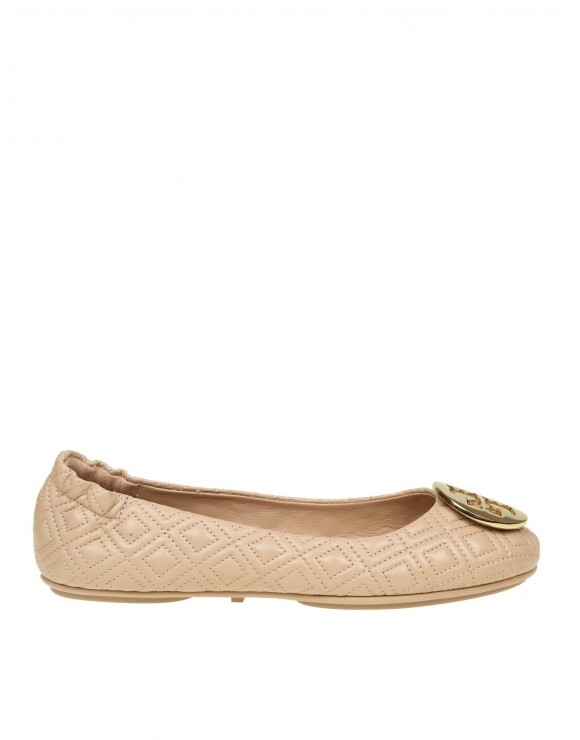 """TORY BURCH BALLERINA """"QUILTED MINNIE"""" IN PELLE COLORE ROSA CARNE"""