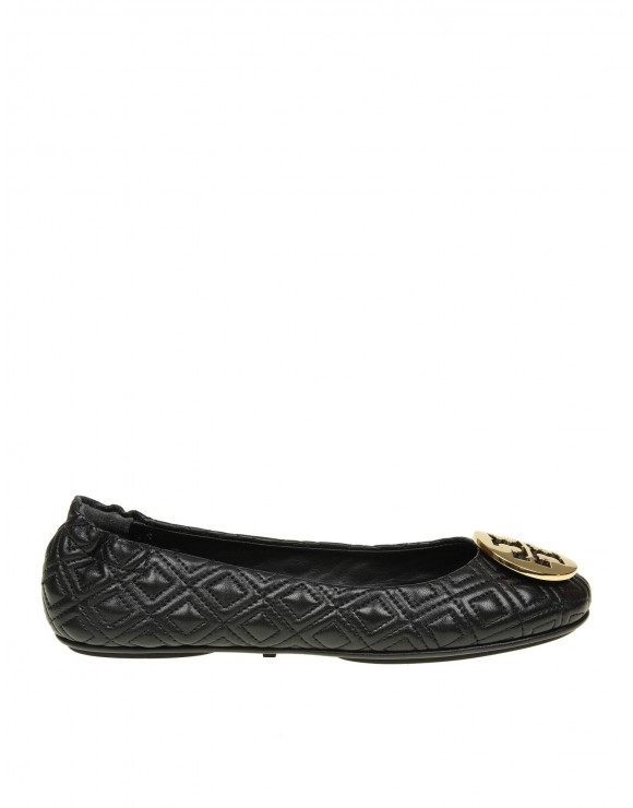 """TORY BURCH BALLERINA """"QUILTED MINNIE"""" IN PELLE COLORE NERO"""