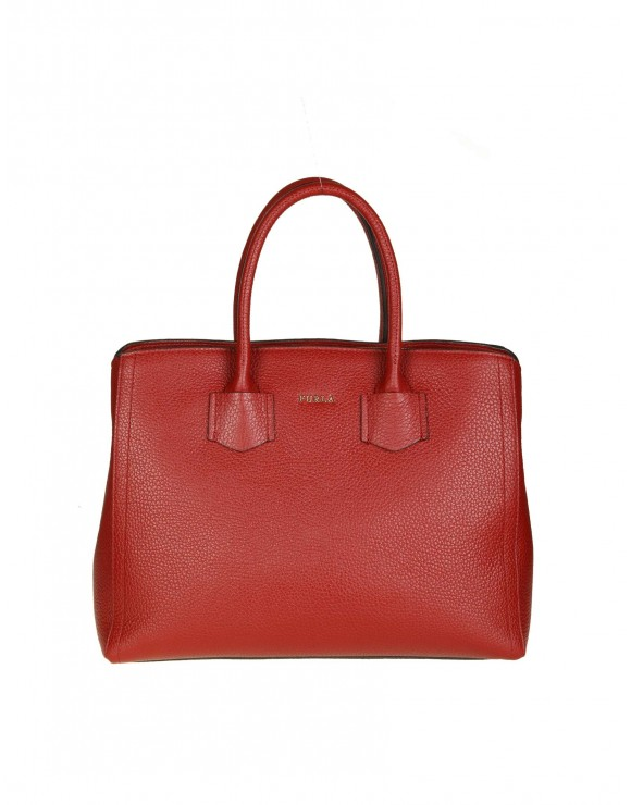 "FURLA SHOPPING ""ALBA M"" IN PELLE COLORE CILIEGIA"