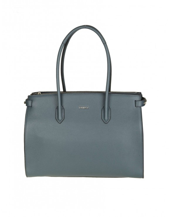"FURLA SHOPPING ""PIN M"" IN PELLE COLORE BLU"