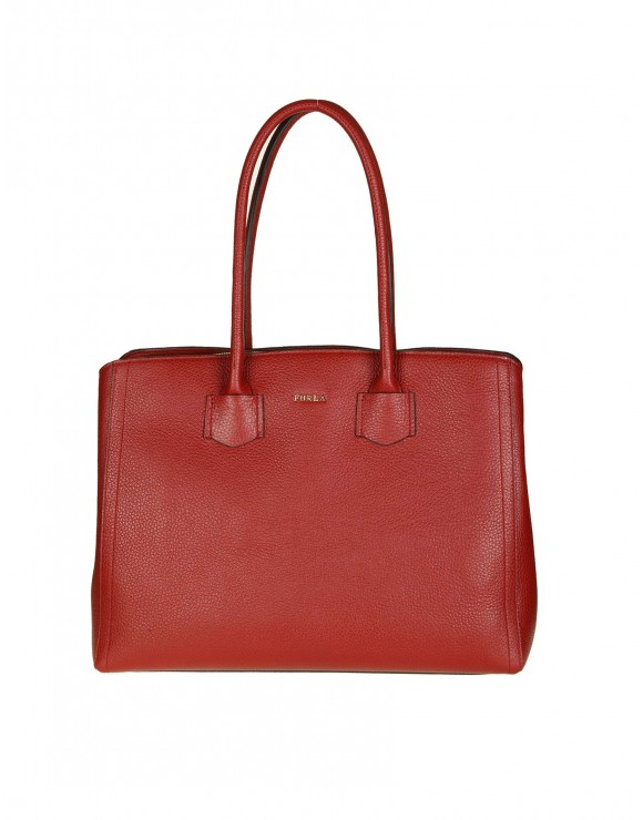 "FURLA SHOPPING ""ALBA L"" IN PELLE COLORE GILIEGIA"