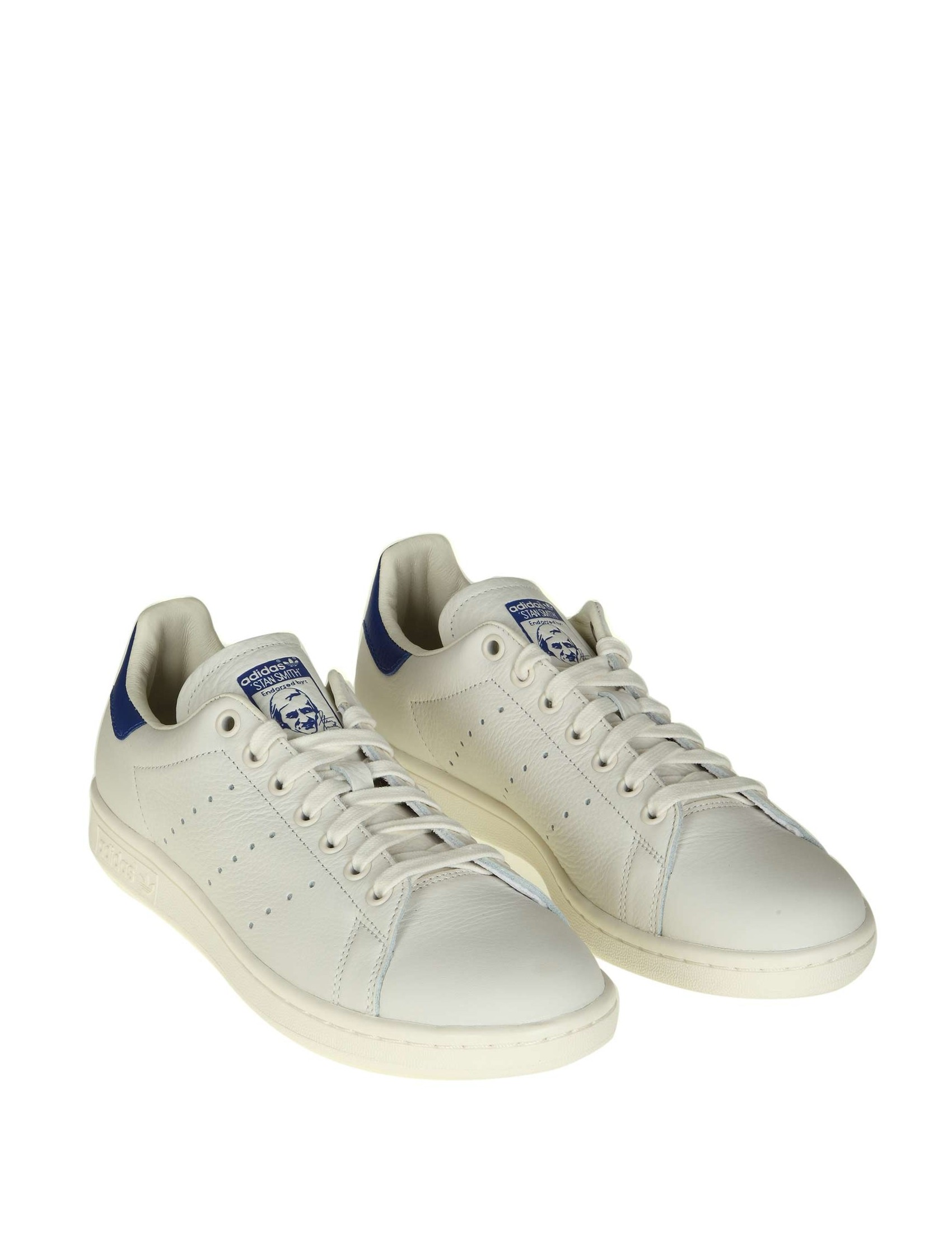 679061b2cab3 ADIDAS ORIGINALS SNEAKERS MAN STAN SMITH WHITE LEATHER BLUE LOW SHOE
