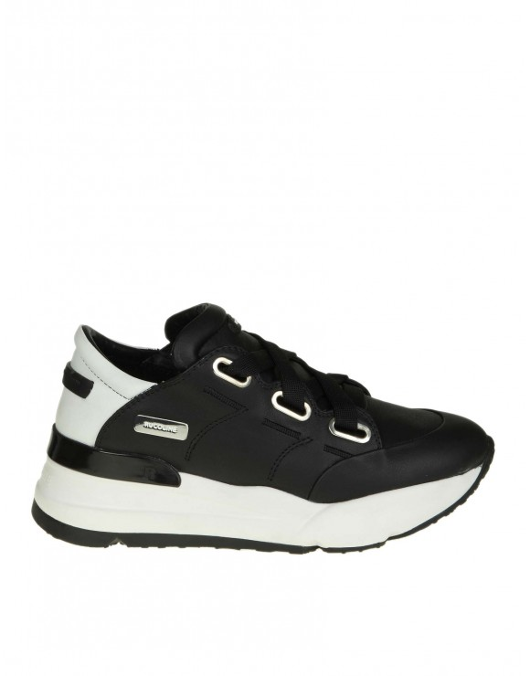 "RUCOLINE SNEAKERS ""R-EVOLVE 4038 NATURE"" IN PELLE COLORE NERO"