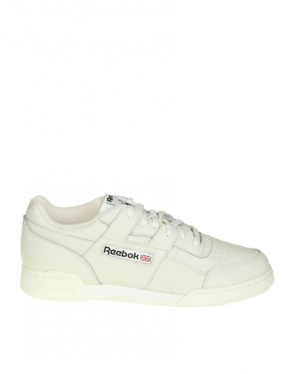 "REEBOK SNEAKERS ""WORKOUT PLUS"" IN PELLE COLORE BIANCO"