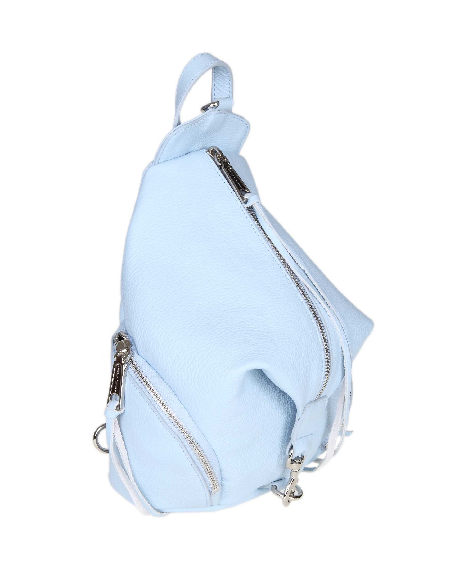 663302c7b ... REBECCA MINKOFF JULIAN BACKPACK IN LIGHT BLUE LEATHER. Reduced price.  prev