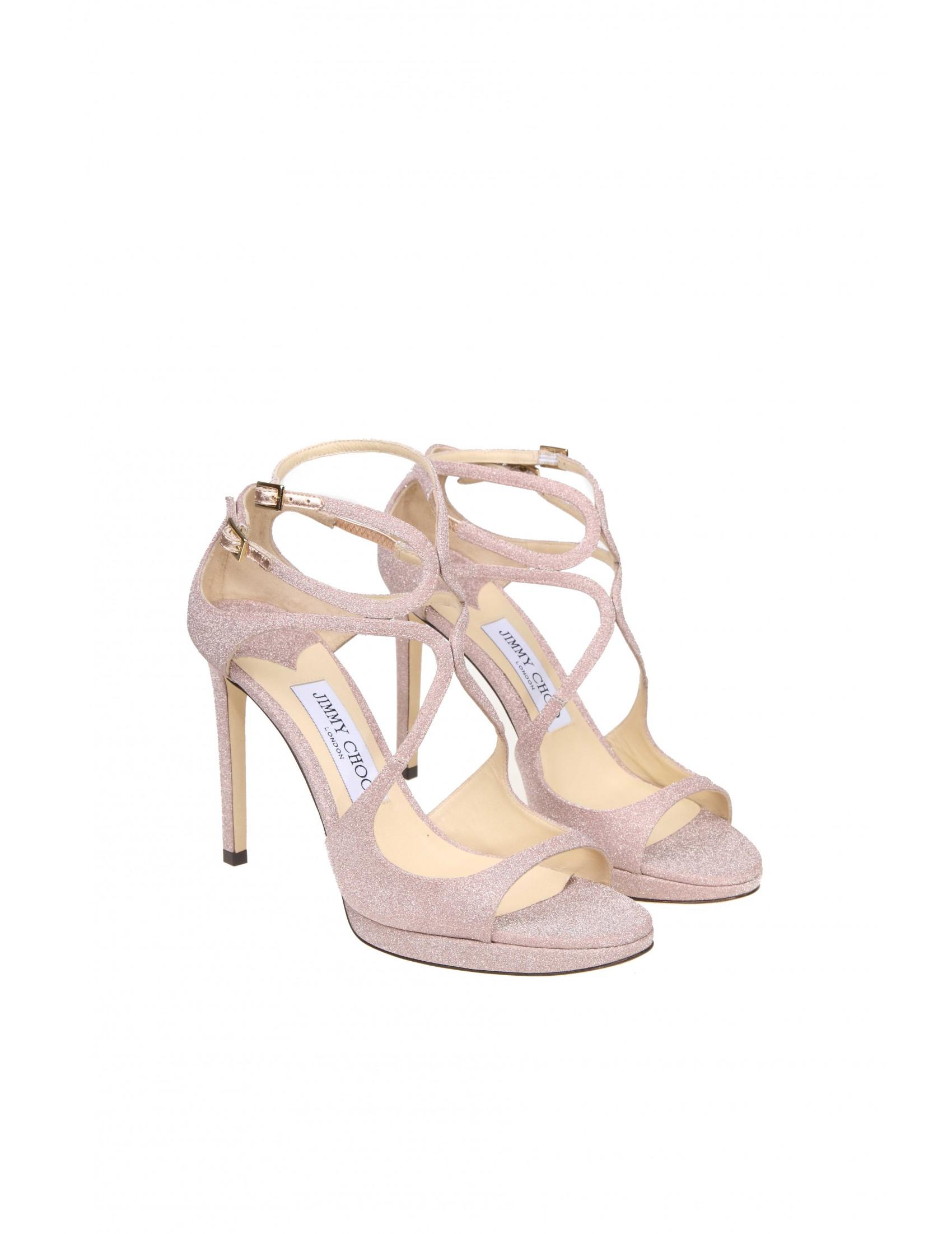 Colore Sandalo In Glitterato Tessuto 100 Jimmy Rosa Lace Choo htdrQs