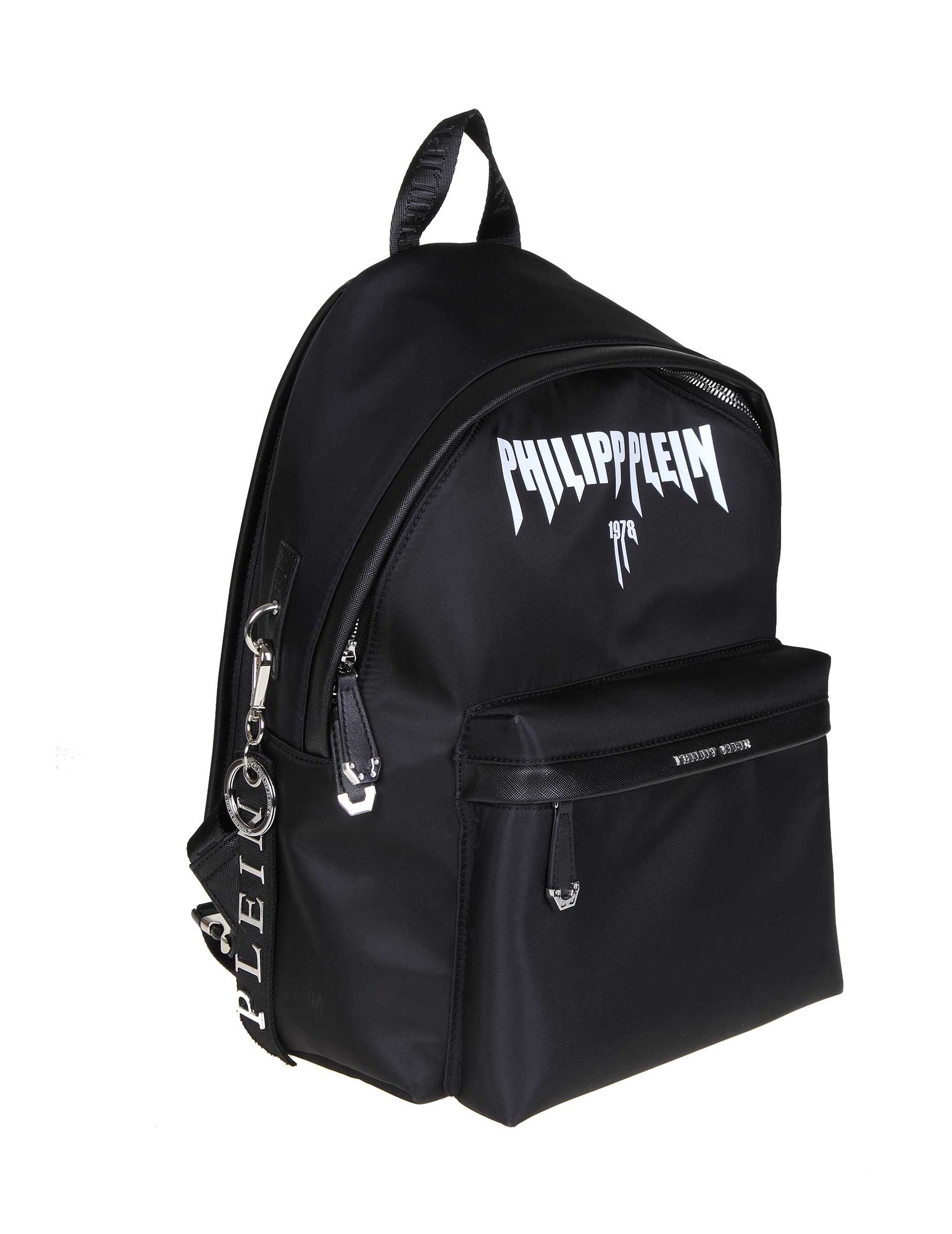 fdf50c7dbf PHILIPP PLEIN BACKPACK ROCK NYLON COLOR BLACK LODO ZAINO MAN