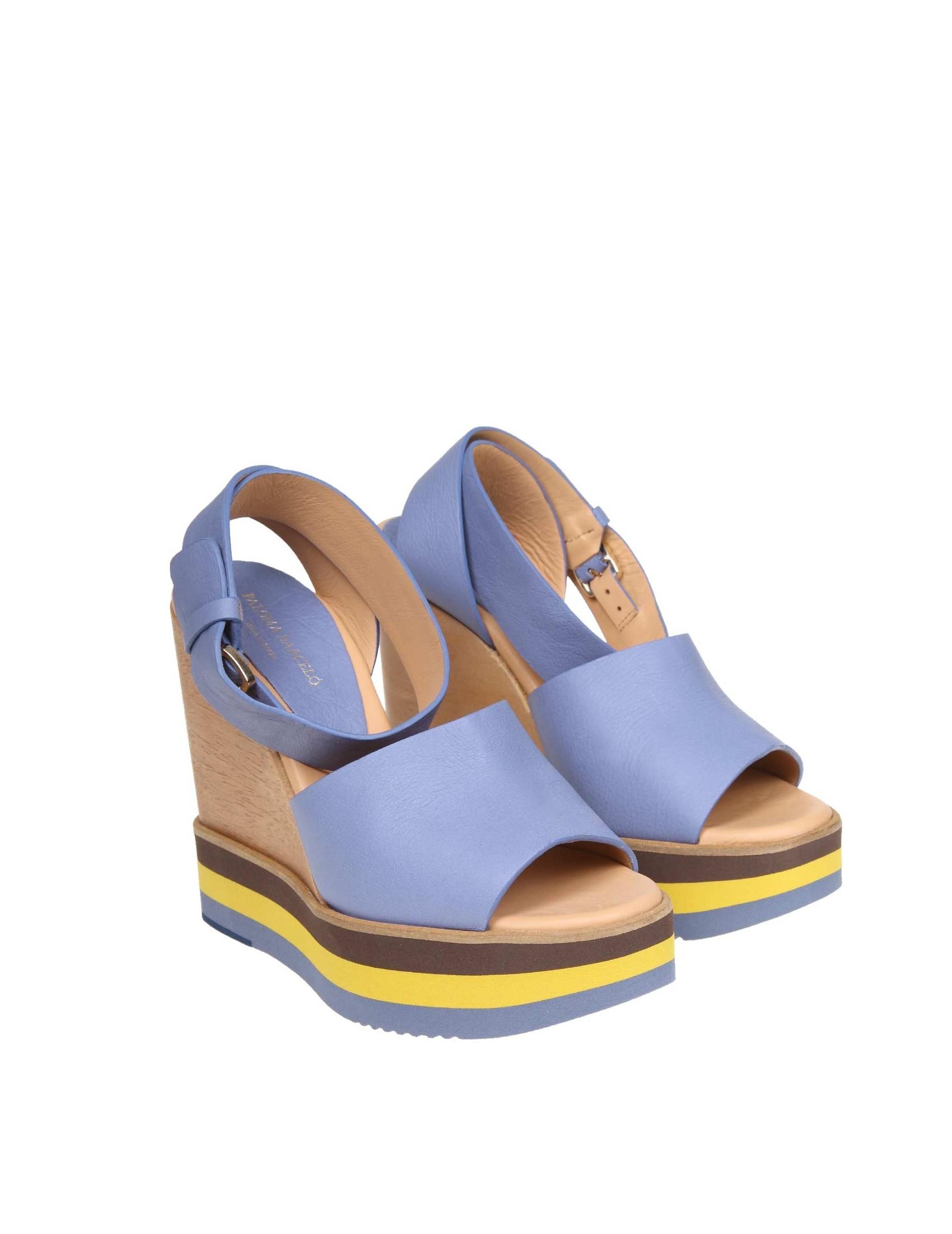 Azzurro Ipkuozx In Colore Sandalo Pelle Paloma Ayaka Barcelo nmv8N0w