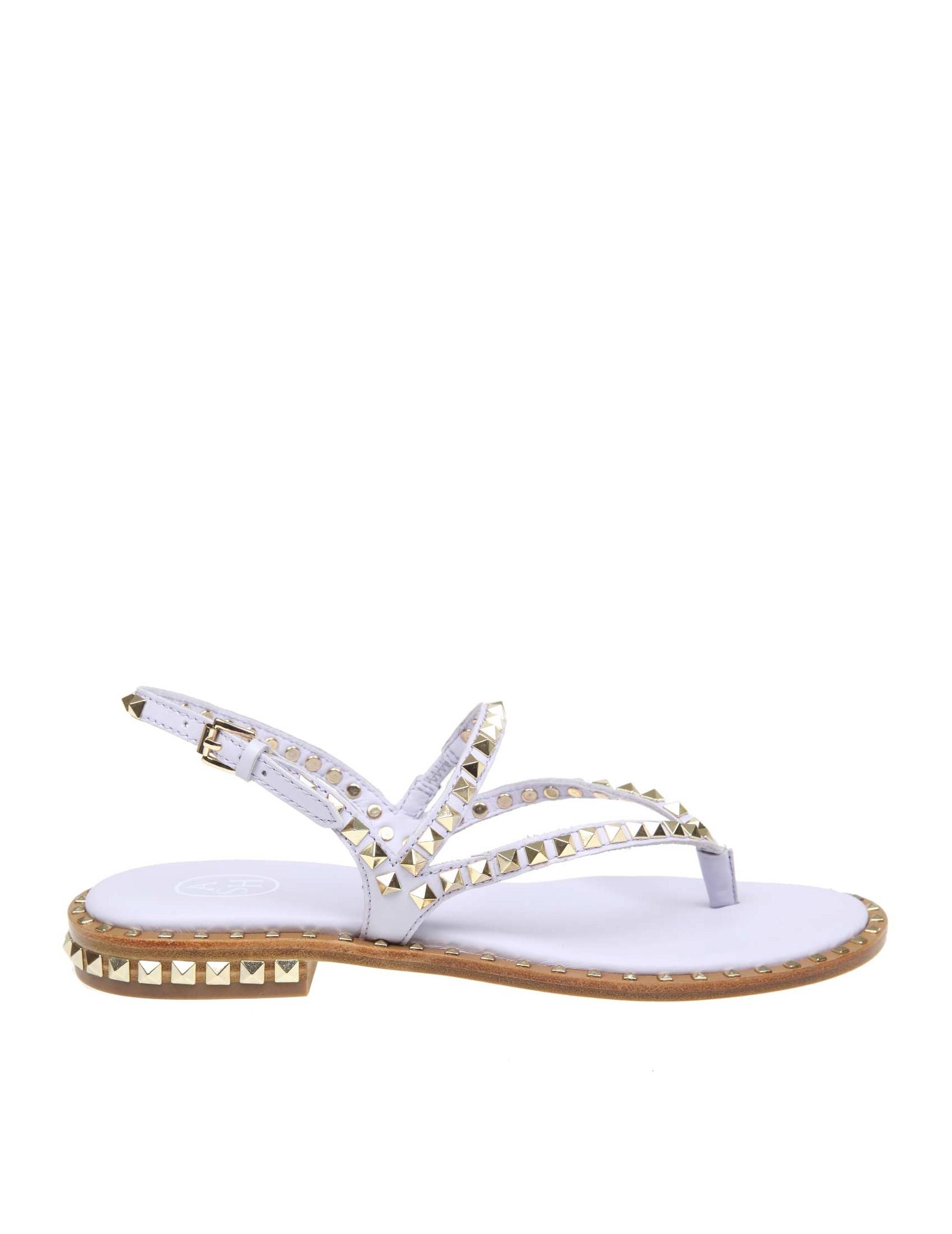 Sandalo Peps Ash In Leather Color Lavender zVpSMGqU