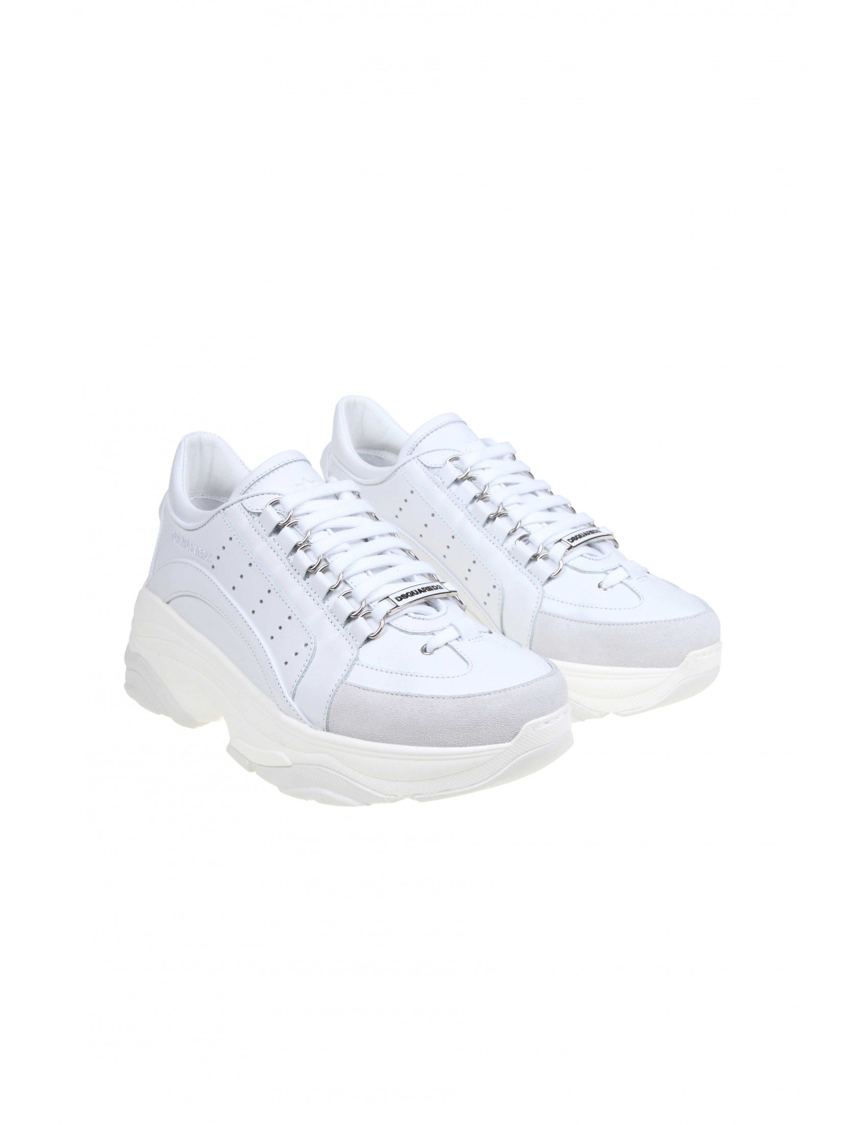 b12fafc4517 DSQUARED SNEAKERS BUMPY 551 IN WHITE LEATHER