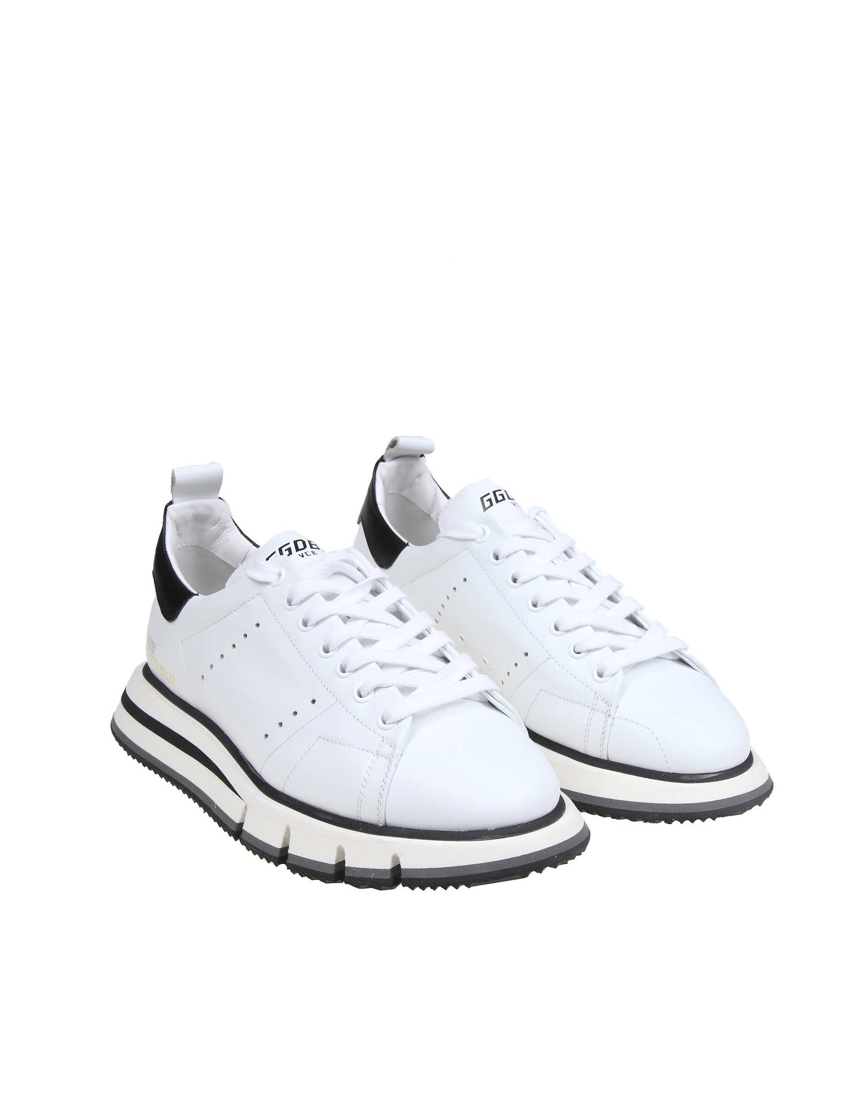 ae188f5c6f GOLDEN GOOSE SNEAKERS STARTER SHARK IN WHITE LEATHER