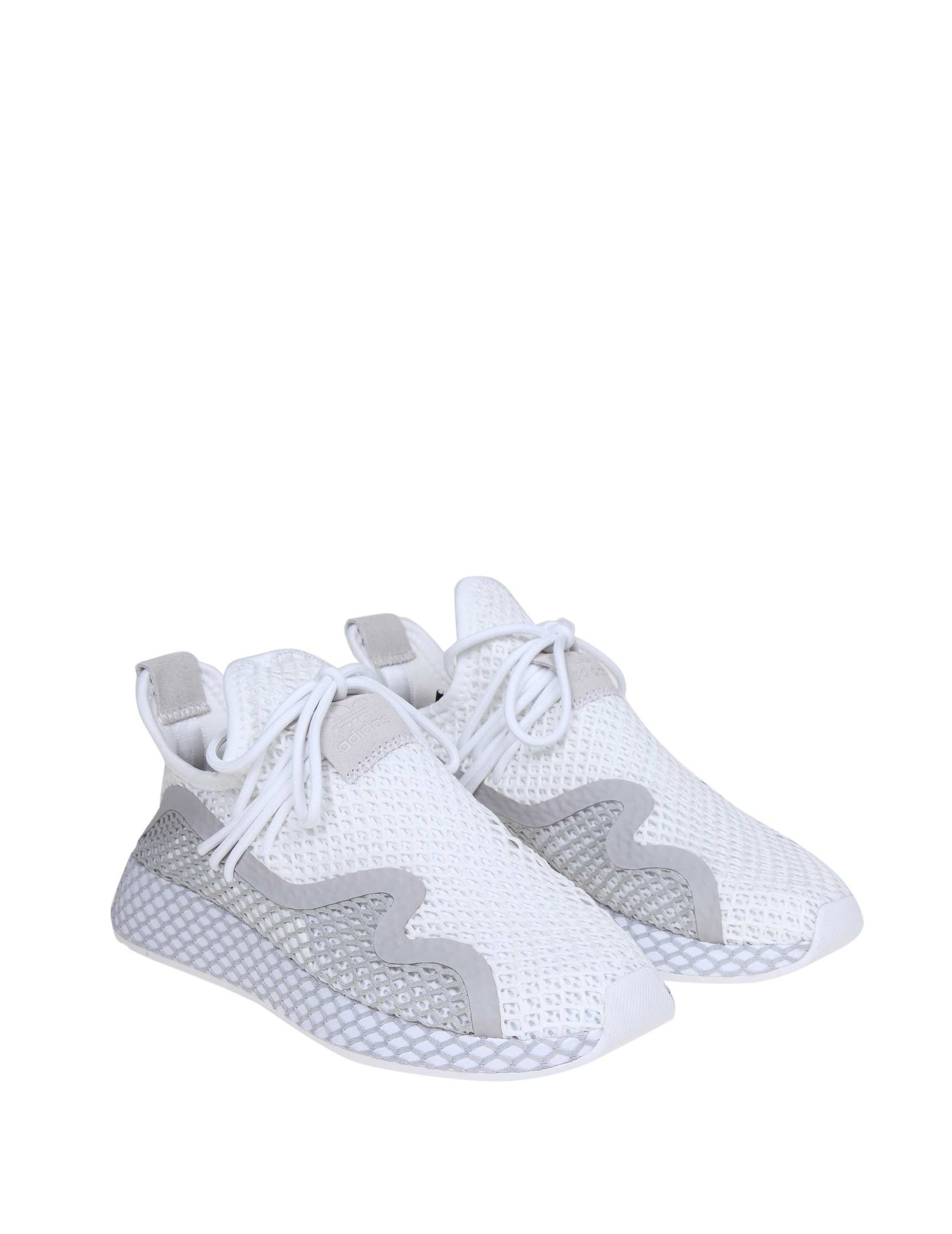771b079f adidas sneakers deerupt s runner in white stretch fabric